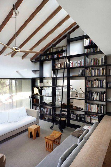 living room inspo black shelves
